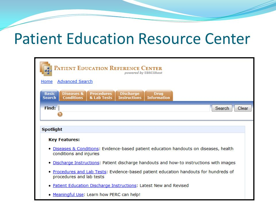 Patient Education Resource Center