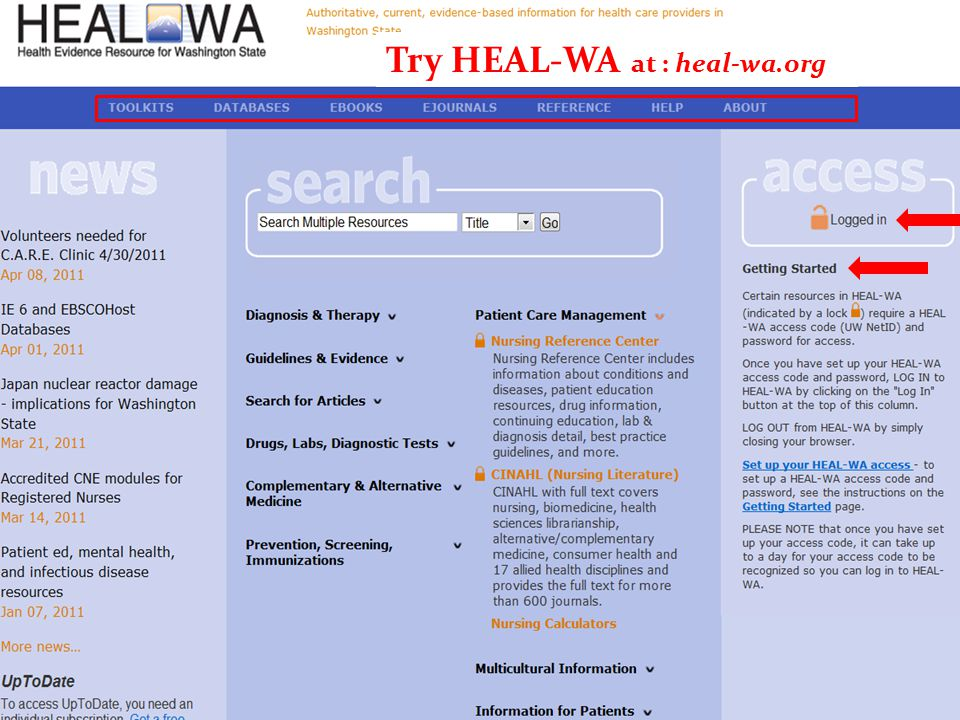 Try HEAL-WA at : heal-wa.org