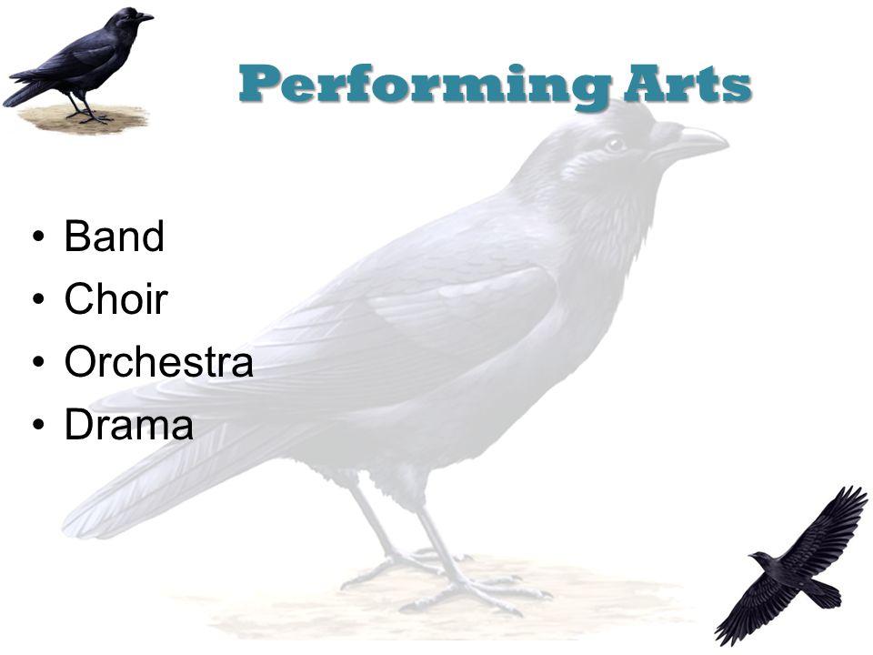 Performing Arts Band Choir Orchestra Drama