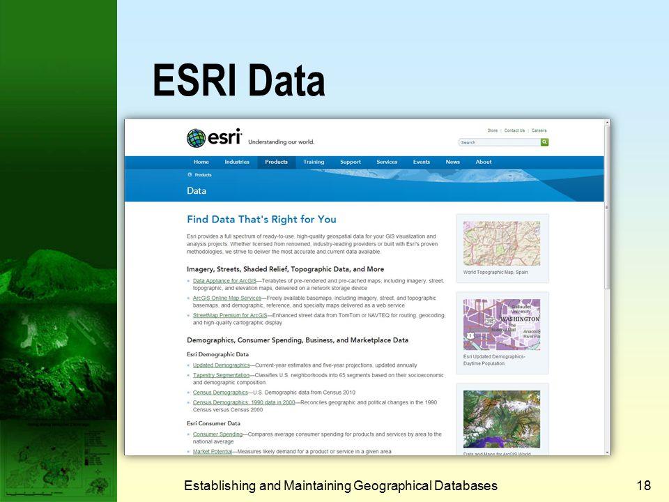 MapWorld China Establishing and Maintaining Geographical Databases17