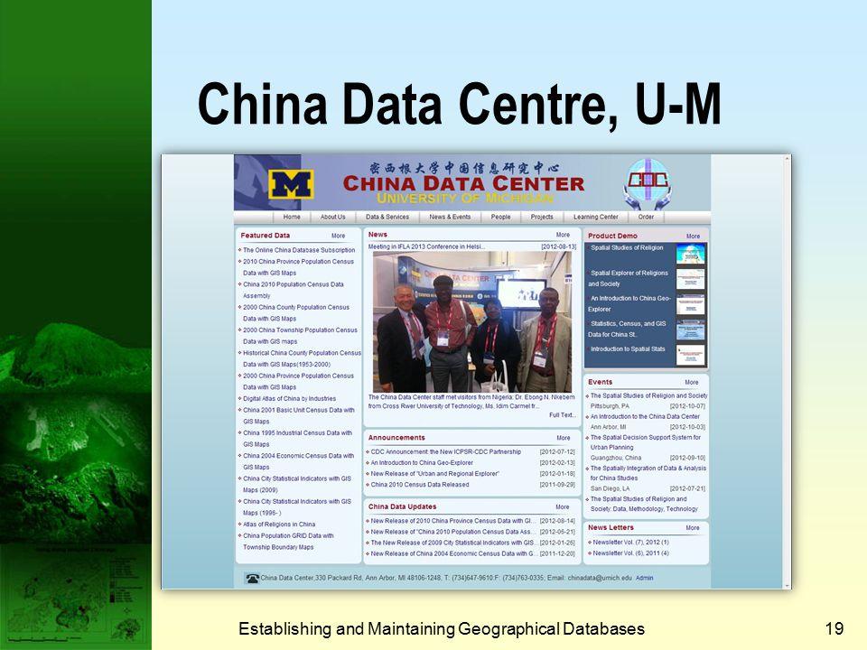 ESRI Data Establishing and Maintaining Geographical Databases18