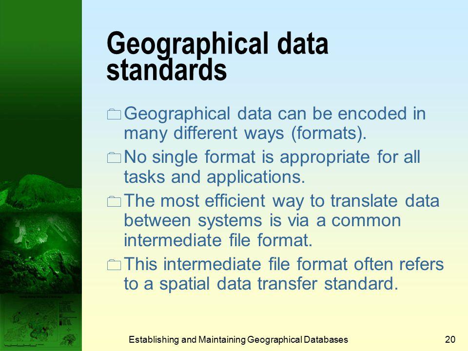 China Data Centre, U-M Establishing and Maintaining Geographical Databases19