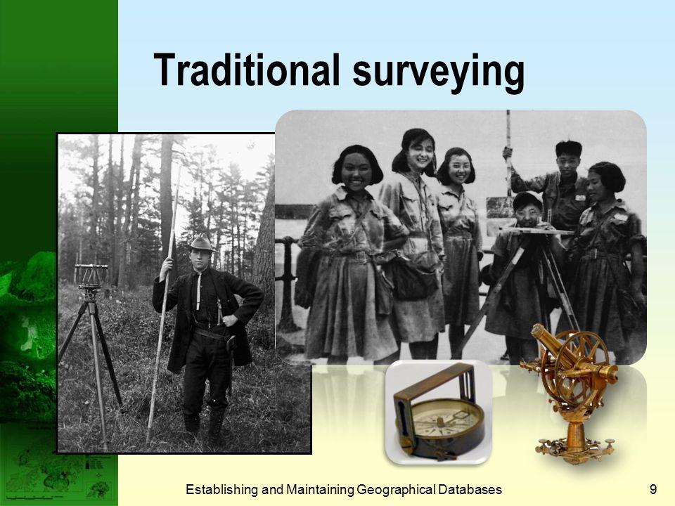 Establishing and Maintaining Geographical Databases9 Traditional surveying