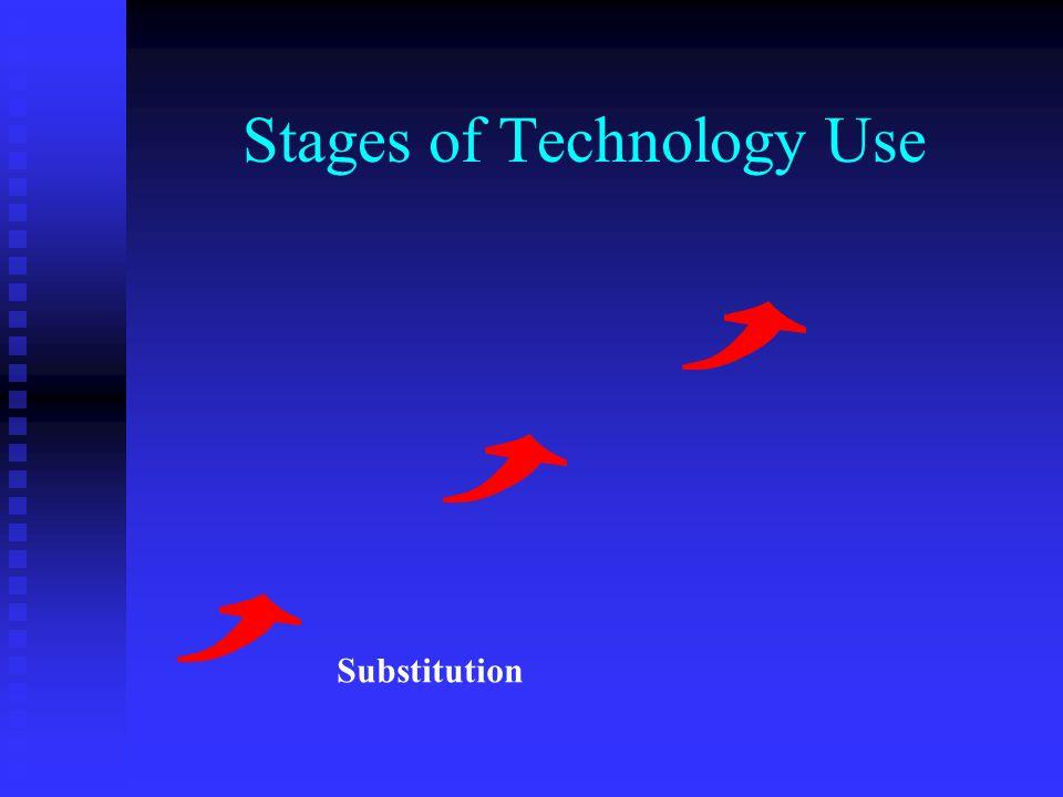 Stages of Technology Use Substitution