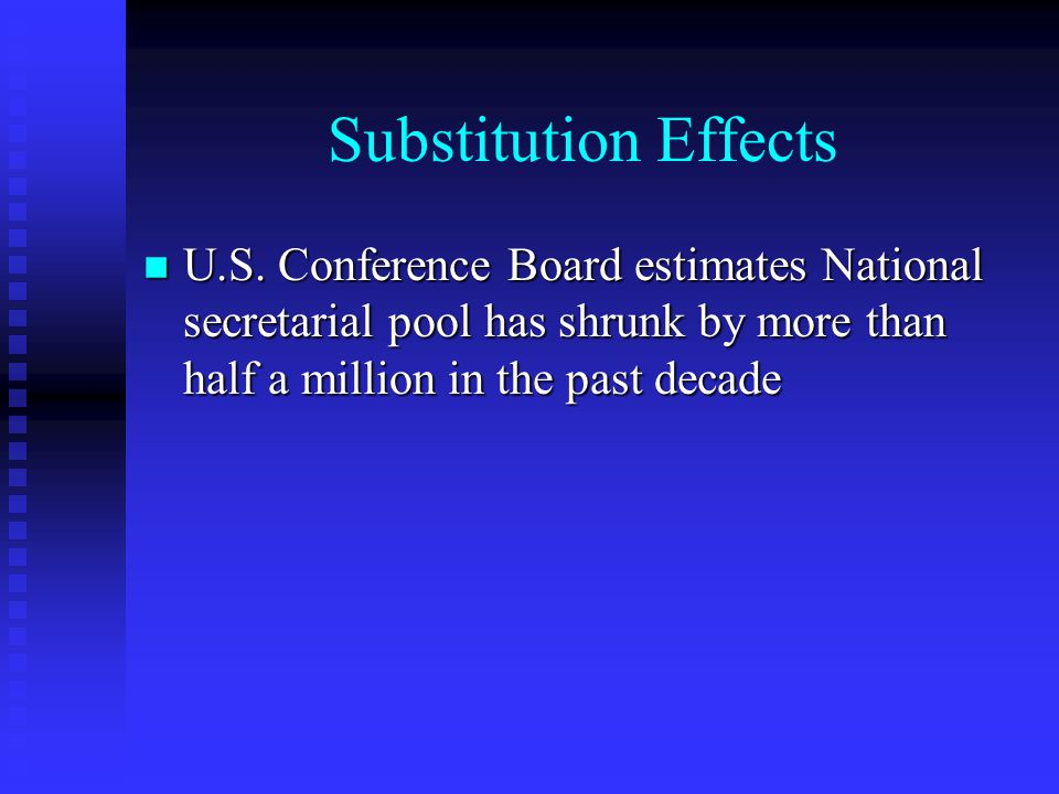 Substitution Effects n U.S.