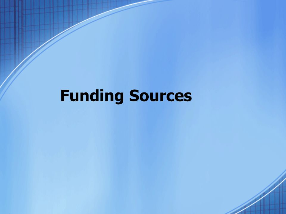 Funding Sources