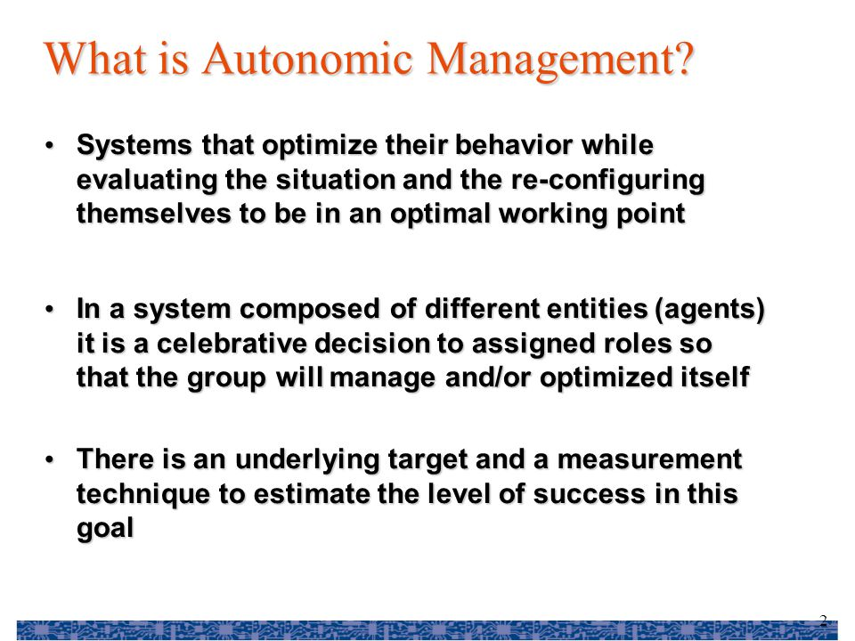 13 Challenges How much management How much management – Too little – not good – Too much – takes resources from system Separate management processes Separate management processes – makes things simpler – cannot be optimal - uses only the API