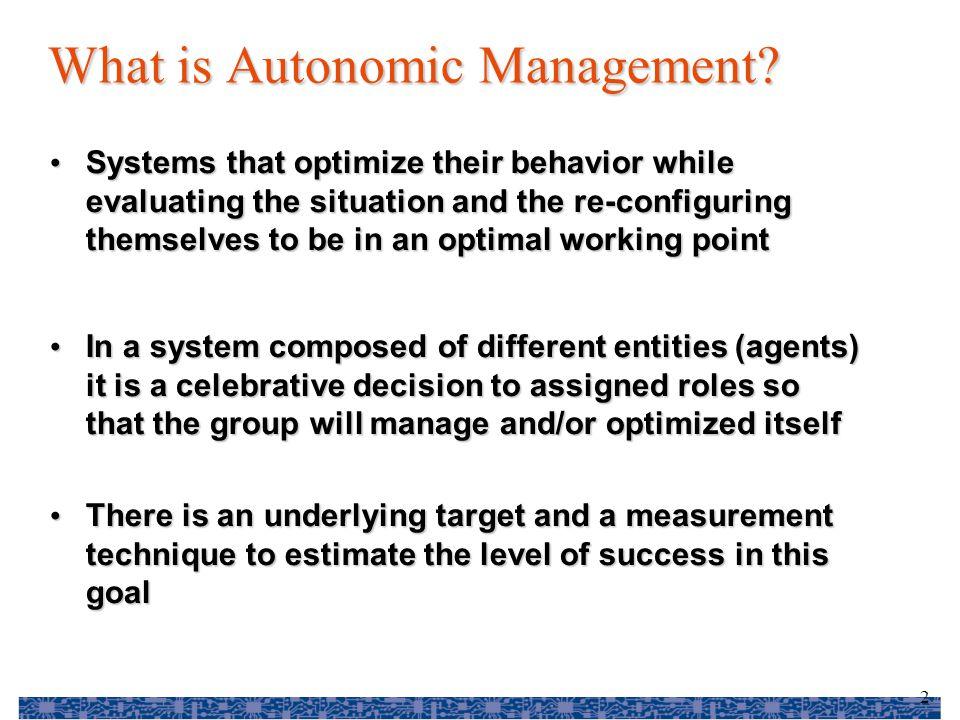 3 What is autonomic management.