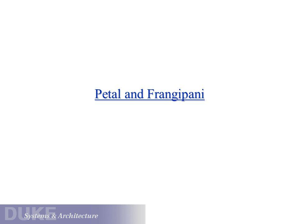 Petal and Frangipani