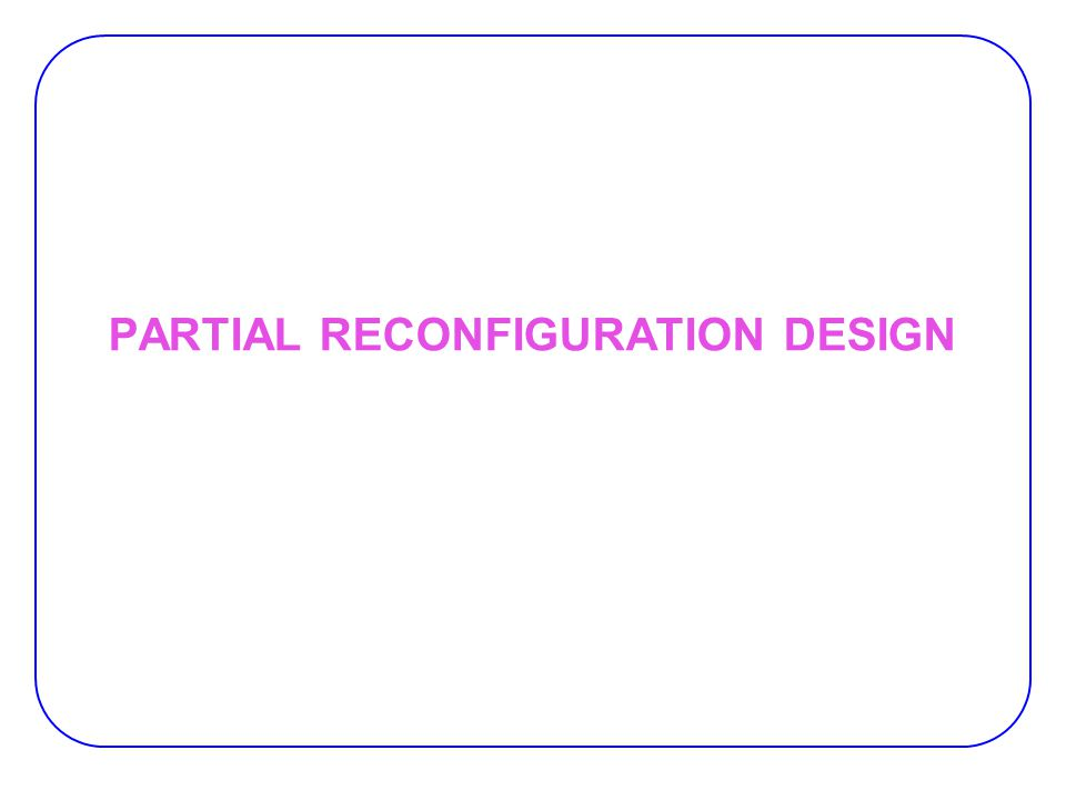 Modular Design Flow