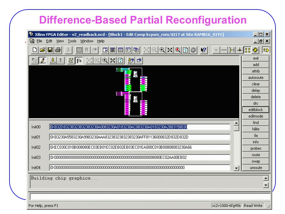 33 Difference-Based Partial Reconfiguration Changing Block RAM Contents