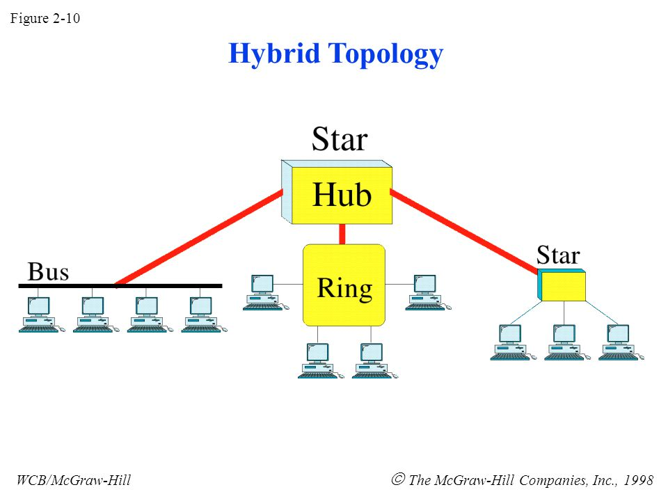 Figure 2-10 WCB/McGraw-Hill  The McGraw-Hill Companies, Inc., 1998 Hybrid Topology