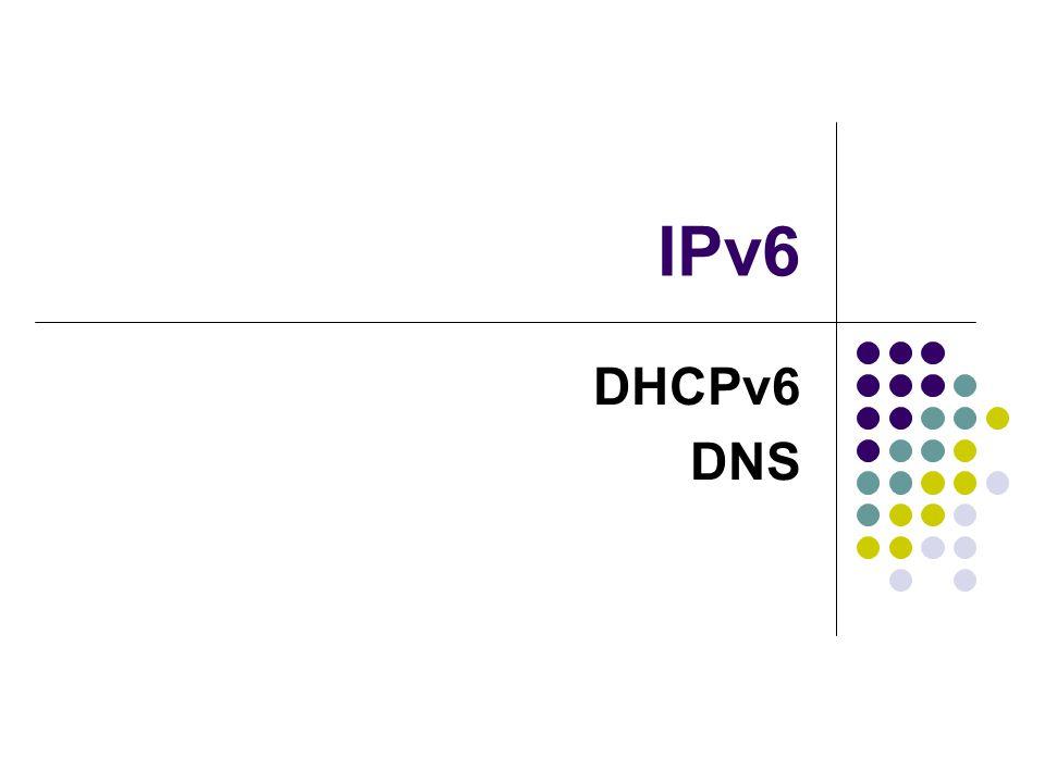 IPv6 DHCPv6 DNS