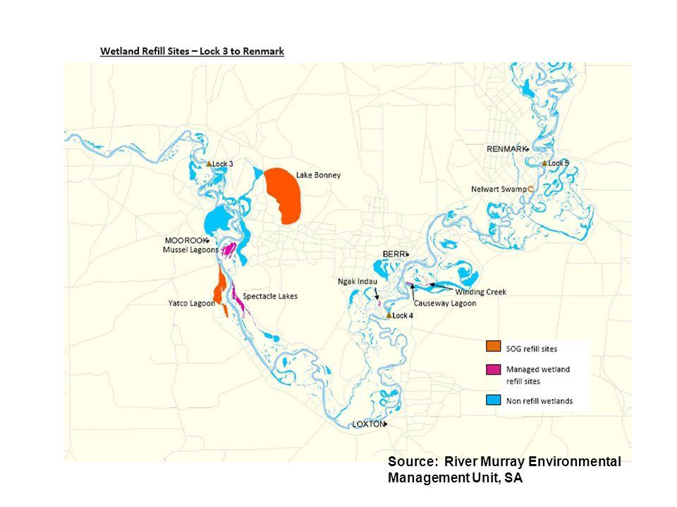 Source: River Murray Environmental Management Unit, SA