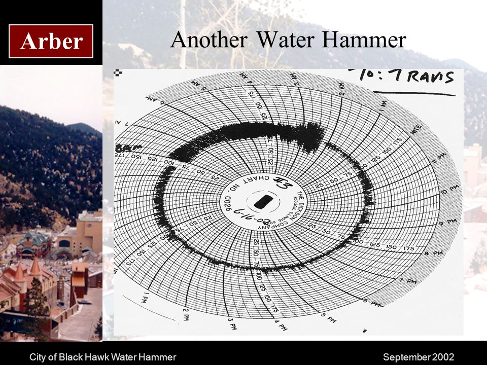 City of Black Hawk Water HammerSeptember 2002 Arber Another Water Hammer