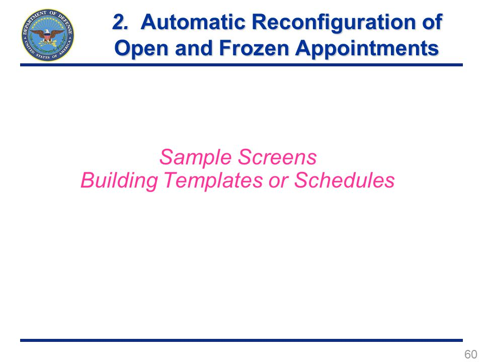 60 Sample Screens Building Templates or Schedules 2.