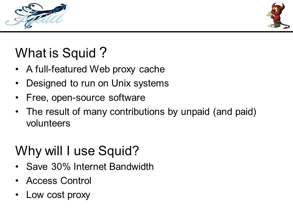 Configuring Transparent Proxy –Compile with --enable-ipf-transparent –Edit squid.conf to fiill with following options.