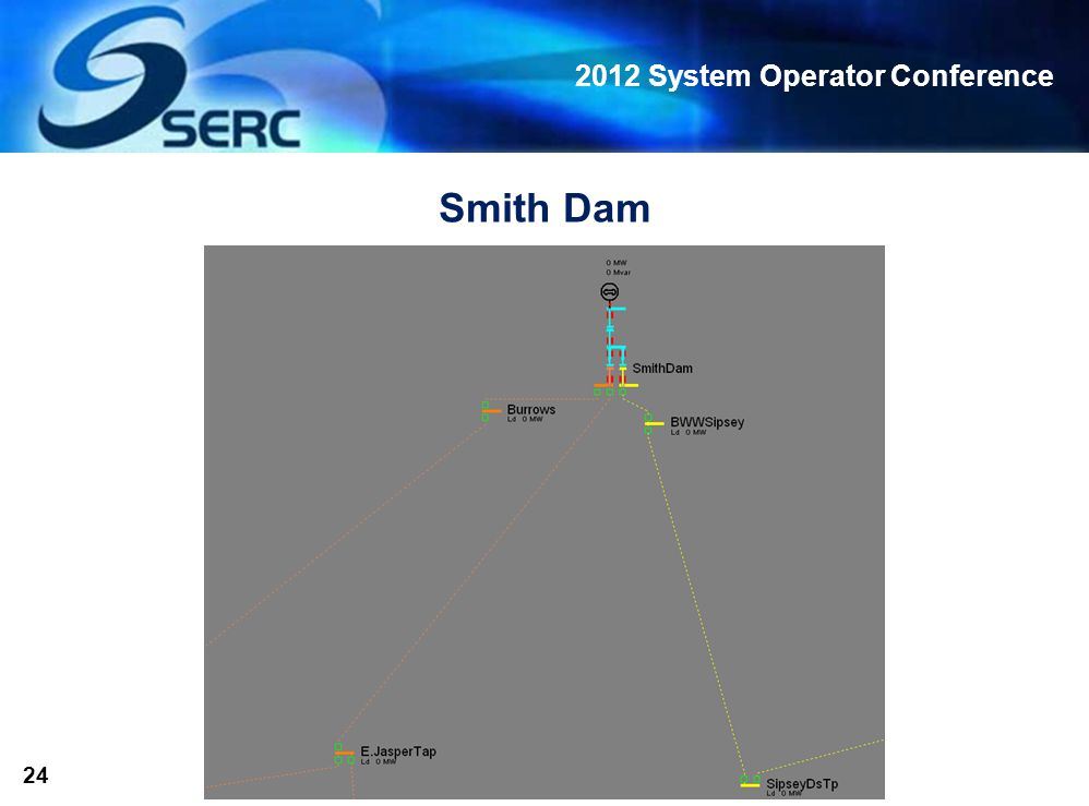 2012 System Operator Conference 24 Smith Dam