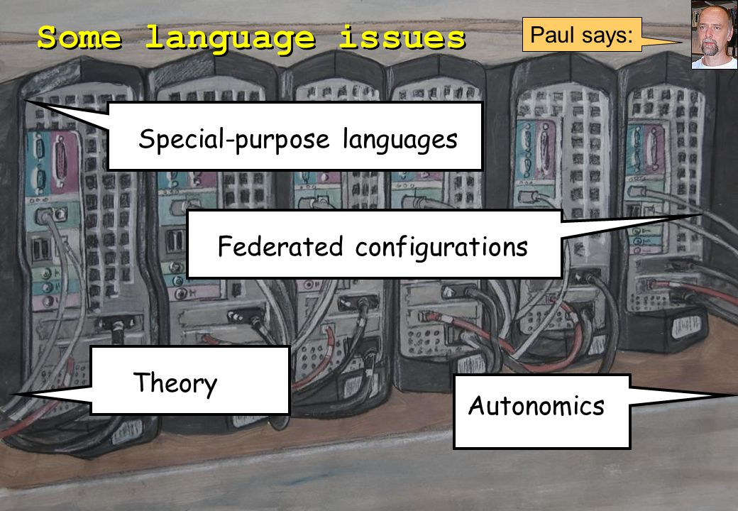 LISA 2004 (35) Some language issues Federated configurations Autonomics Theory Special-purpose languages Paul says: