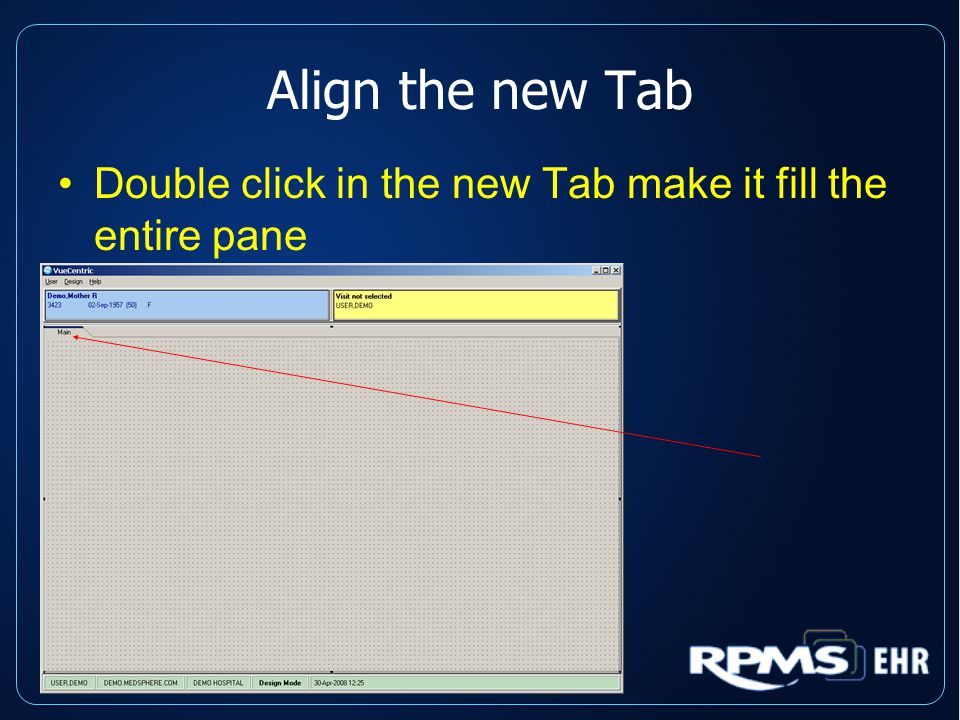 Align the new Tab Double click in the new Tab make it fill the entire pane