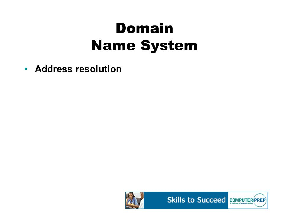 Domain Name System Address resolution