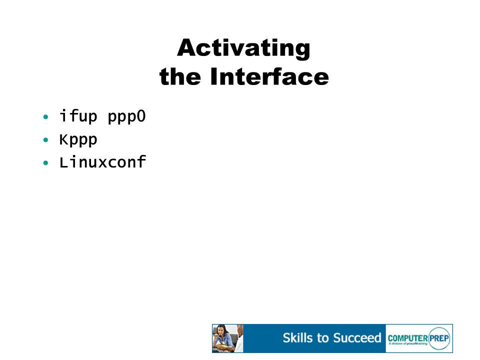Activating the Interface ifup ppp0 Kppp Linuxconf