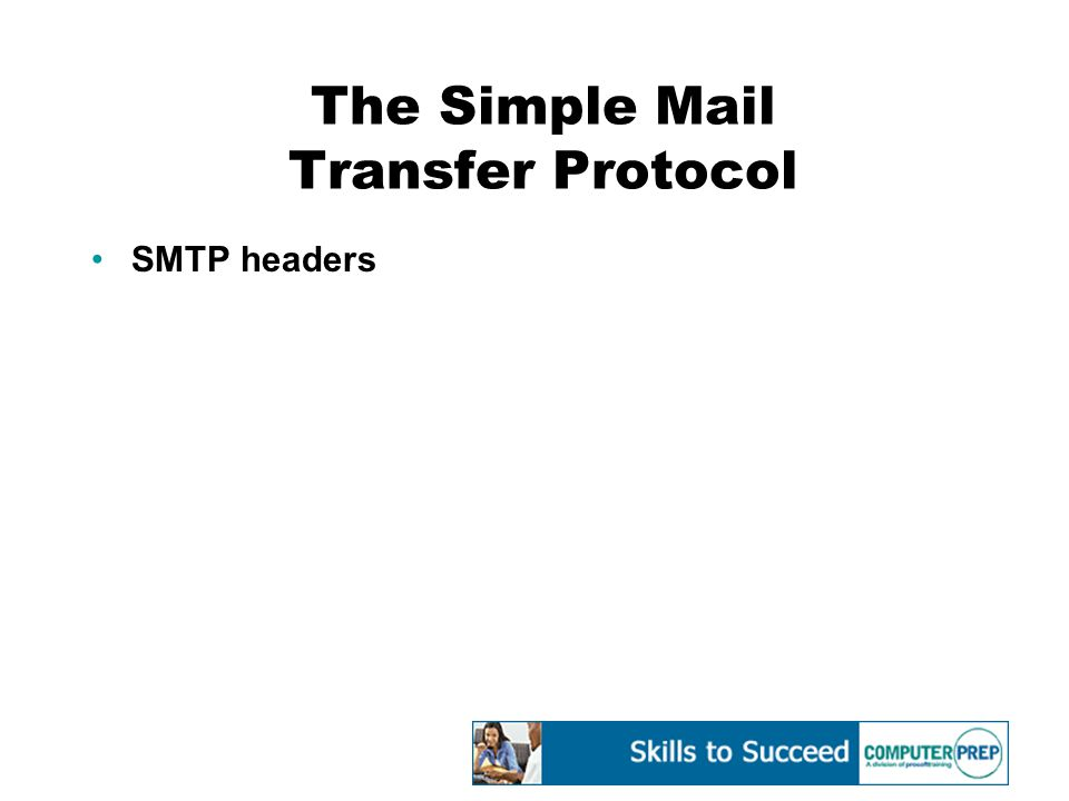 The Simple Mail Transfer Protocol SMTP headers