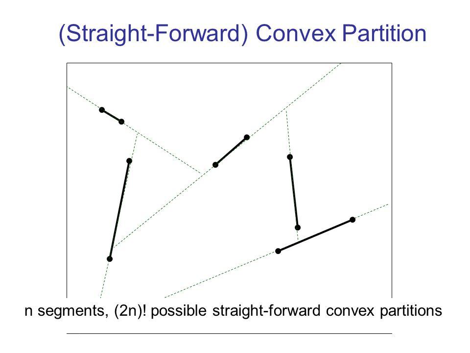 20 (Straight-Forward) Convex Partition n segments, (2n).