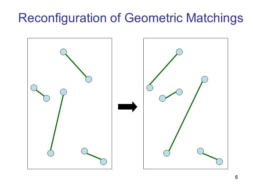 6 Reconfiguration of Geometric Matchings