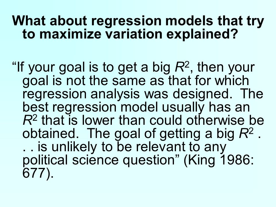 What about regression models that try to maximize variation explained.