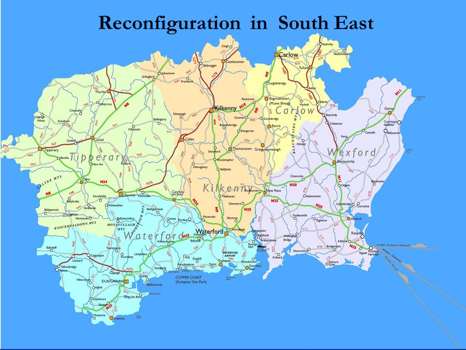 Reconfiguration in South East