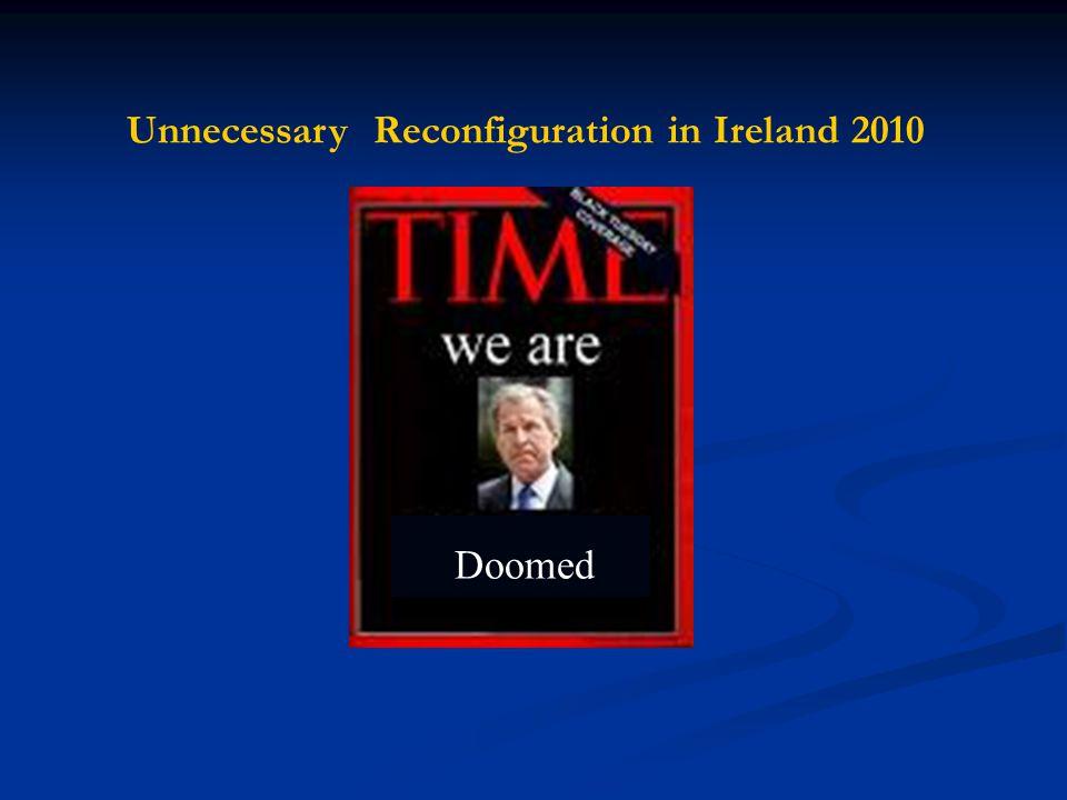 Unnecessary Reconfiguration in Ireland 2010 Doomed