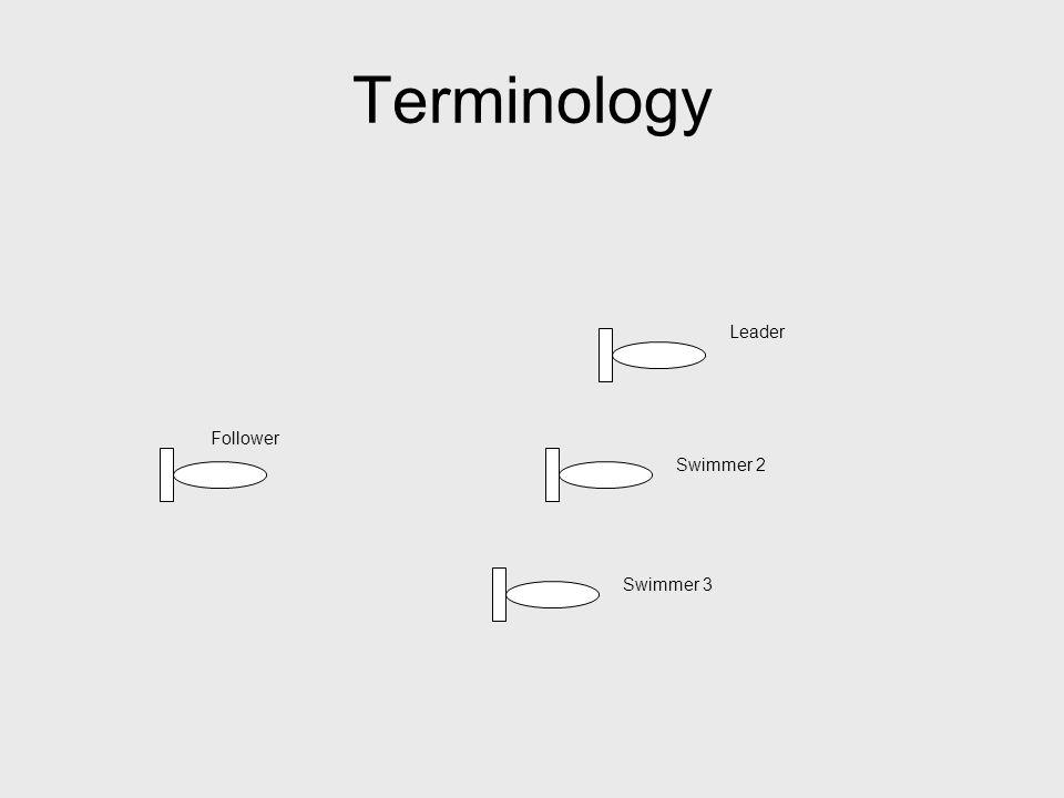 Terminology Leader Swimmer 2 Swimmer 3 Follower