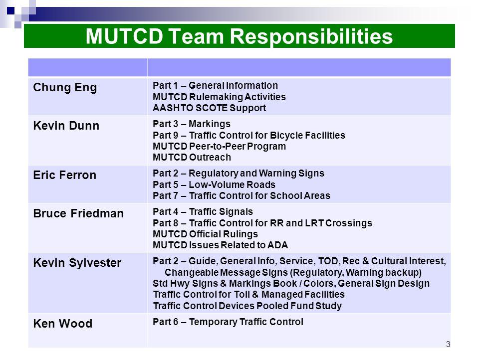 Working Toward 2017 MUTCD 1935 Future Evolution of the MUTCD