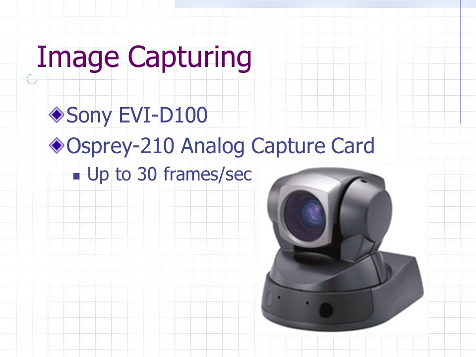 Image Capturing Sony EVI-D100 Osprey-210 Analog Capture Card Up to 30 frames/sec