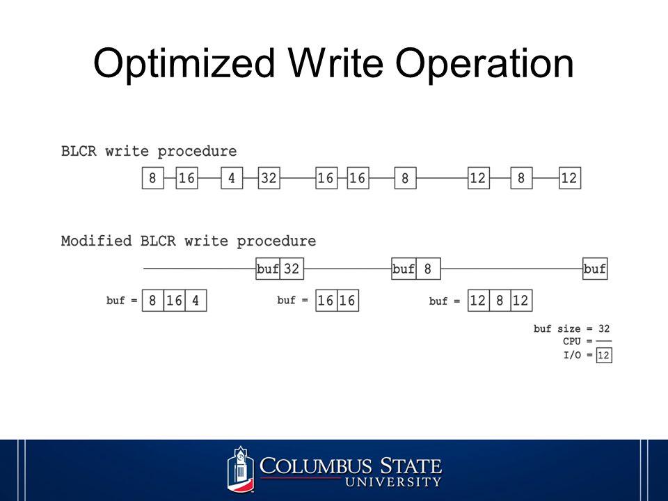 Optimized Write Operation