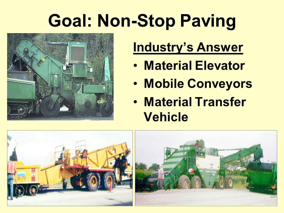 Goal: Non-Stop Paving Industry's Answer Material Elevator Mobile Conveyors Material Transfer Vehicle