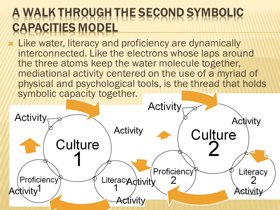 Activity Activity  Like water, literacy and proficiency are dynamically interconnected.