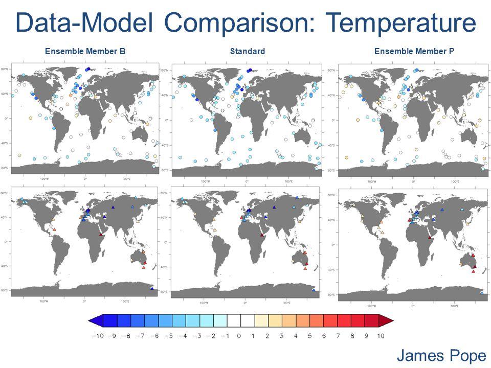 Data-Model Comparison: Temperature Ensemble Member BStandardEnsemble Member P James Pope
