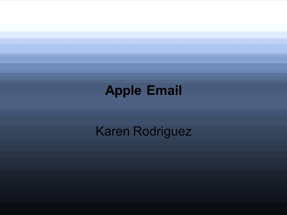 Apple Email Karen Rodriguez