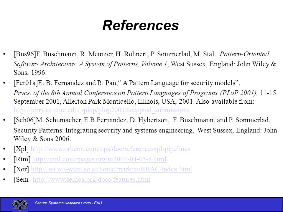 Secure Systems Research Group - FAU References [Bus96]F.