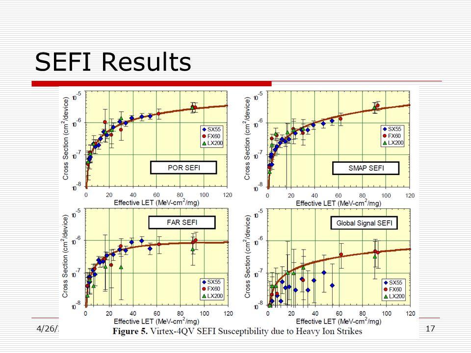 SEFI Results 4/26/2015Journal Club17