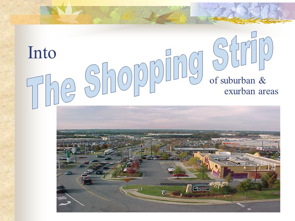 Into of suburban & exurban areas