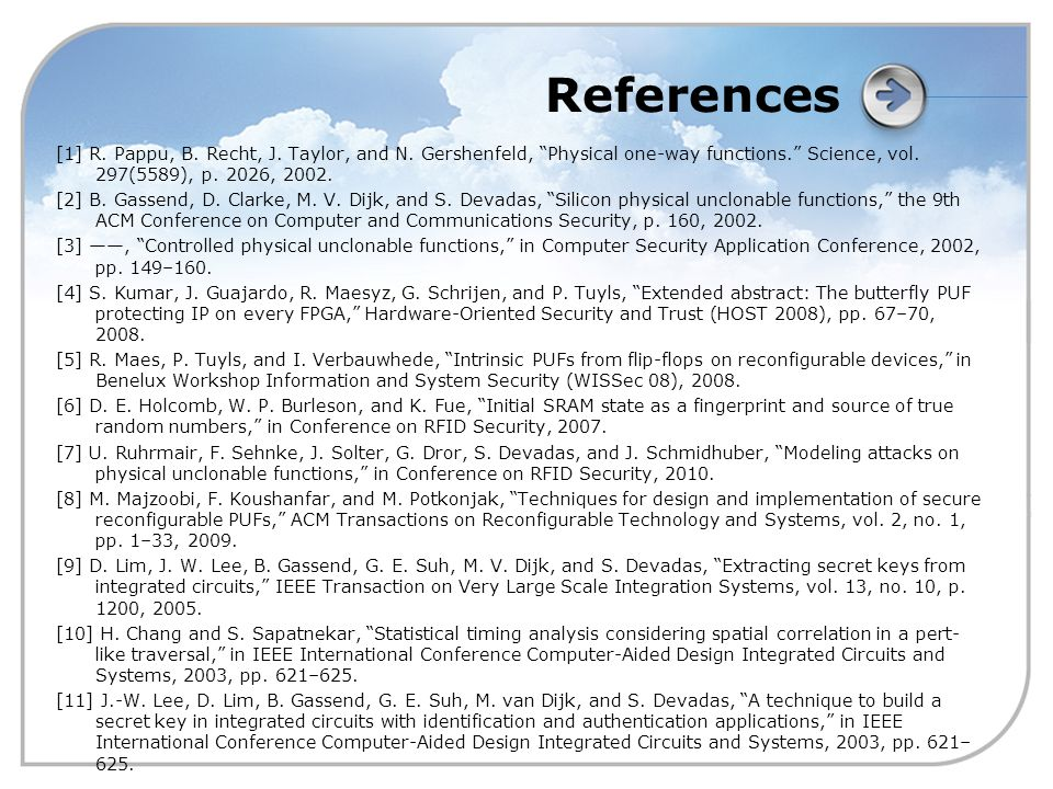 References [1] R. Pappu, B. Recht, J. Taylor, and N.