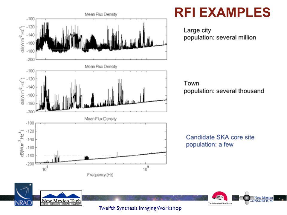 Twelfth Synthesis Imaging Workshop RFI EXAMPLES