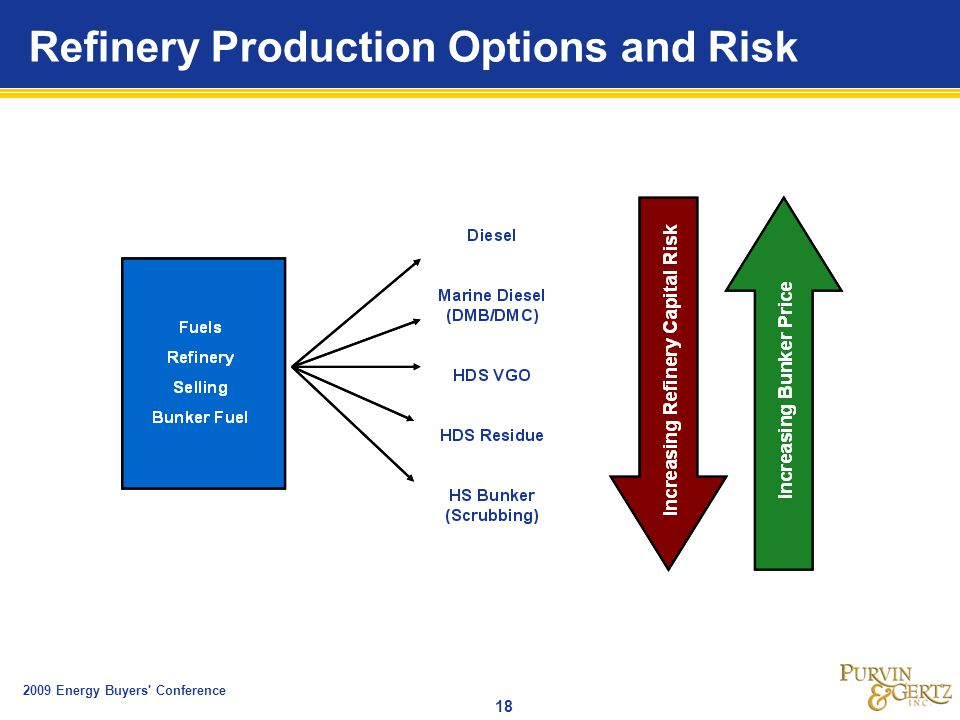 2009 Energy Buyers Conference 18 Refinery Production Options and Risk