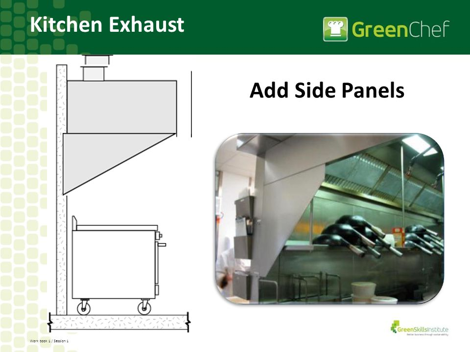 Work book 1 / Session 1 Add Side Panels Kitchen Exhaust