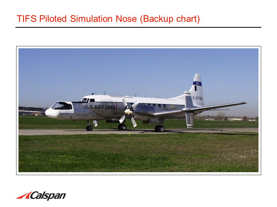 TIFS Piloted Simulation Nose (Backup chart)