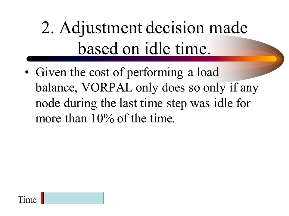 2.Adjustment decision made based on idle time.