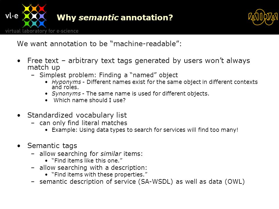 Why semantic annotation.
